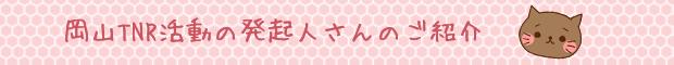 岡山TNR活動の発起人さんのご紹介